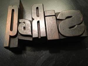 Paris Typeset letters flea market