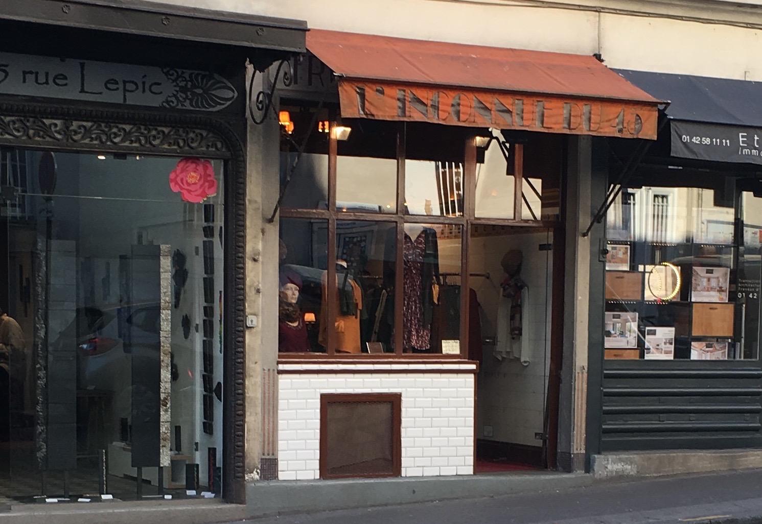 Paris accessorie shop in montmartre