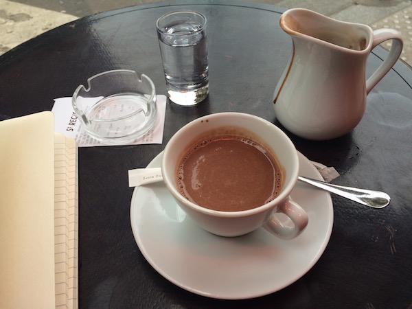 Walking Tour Of Paris -Hot chocolate St Regis Cafe - DeliciousPerspective.com
