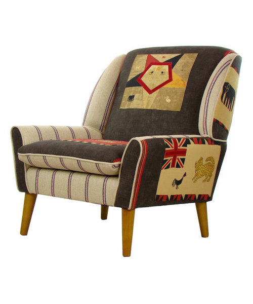 Bespoke Patchwork Armchair from Etsy