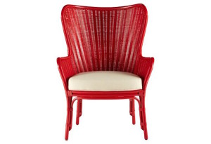 Red Sheridan Wing Chair | DeliciousPerspective
