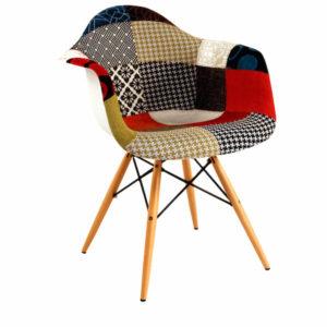 Mid Century Patchwork Armchair | Wayfair | DeliciousPerspective
