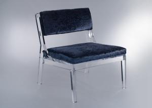 Lucite Slipper Chair with Velvet | DeliciousPerspective