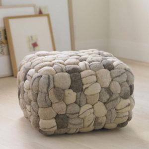 Wool Pebble Pouf Viva Terra | DeliciousPerspective