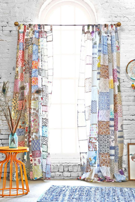Patchwork Curtains | DeliciousPerspective.com