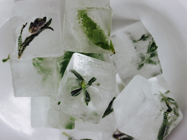 Herbed Ice Cubes | DeliciousPerspective.com