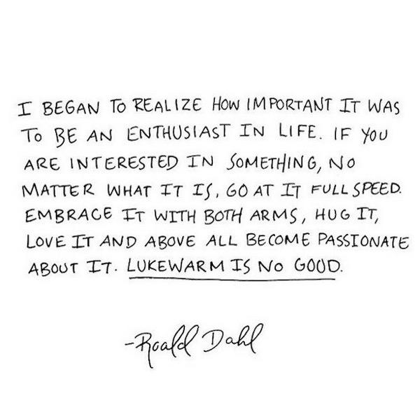 Roald Dahl Quote | DeliciousPerspective.com
